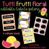 Fruit & Floral Classroom Theme Editable Labels