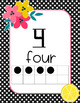 Fruit & Floral Numbers and Tens Frame Posters-Classroom Theme Decor