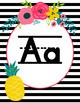 Fruit & Floral Primary Alphabet Cards- Classroom Theme Decor