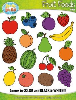 Fruit Foods Clipart Set — Includes 30 Graphics!