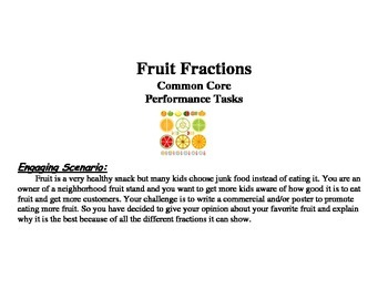 Fruit Fractions Performance Tasks