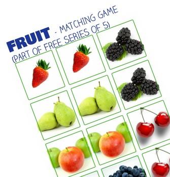 Fruit Free Printable - Matching Game