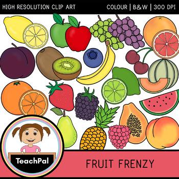 Fruit Frenzy - Fruit Clip Art - Food Groups