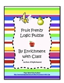 Fruit Frenzy Logic Puzzle for K-2 (Critical Thinking, Gifted, Early Finishers)
