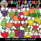 Fruit Friends Clipart {Happy Fruit Clipart}