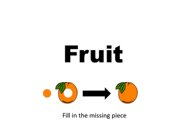Fruit Fun- Fill in the missing piece