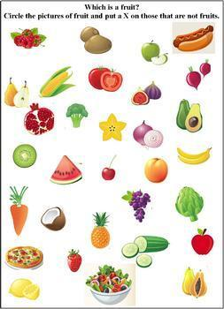 Fruit Group Worksheets