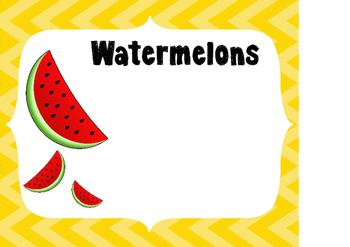 Fruit Groups With Name Tags