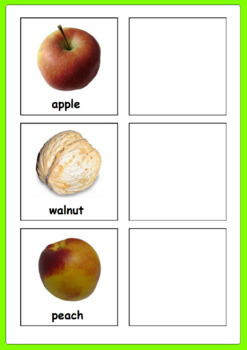 Fruit Inside & Out Matching Activity (Fruit names included)