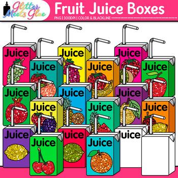 Fruit Juice Boxes Clip Art Health Nutrition Graphics Glitter Meets Glue