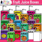Fruit Juice Boxes Clip Art {Food Groups & Nutrition Graphi