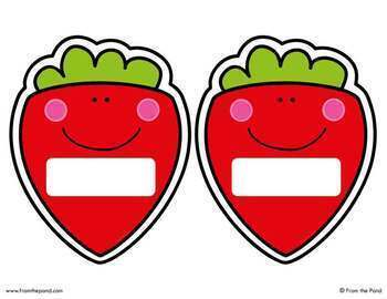 Fruit Labels for the Classroom {Editable}