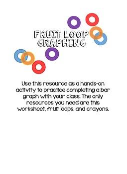 picture regarding Fruit Loop Rainbow Printable Template identified as Fruit Loops Graph Worksheets Education Elements TpT