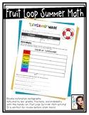 Fruit Loop 'Lifesaver' Summer Math Activity