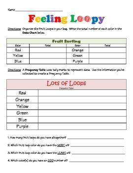 Fruit Loop MATH & LANGUAGE Activity (2.MD.D10 & W 3.3)