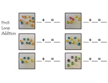 Fruit Loop Math Pack: Word Problems, Graphing and Addition