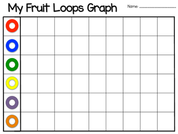 image about Fruit Loop Rainbow Printable Template identified as Fruit Loops Graph Worksheets Schooling Products TpT