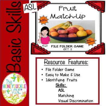 Fruit MATCH-UP Set 2 File Folder Game