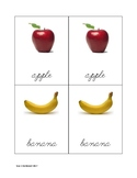 Fruit Matching Cards in Cursive2