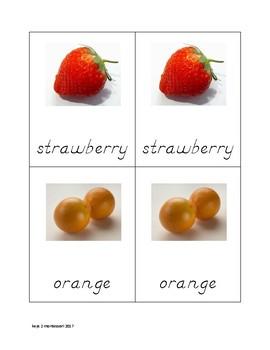 Fruit Matching Cards in D'Nealian2