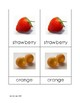 Fruit Matching Cards in Print
