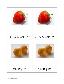 Fruit Matching Cards in Print2