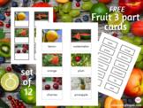 Fruit Montessori 3-part cards