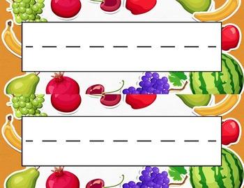 Fruit Desk Name Tag Plates Set