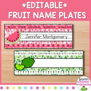 Tropical Fruit Name Plates/Desk Tags