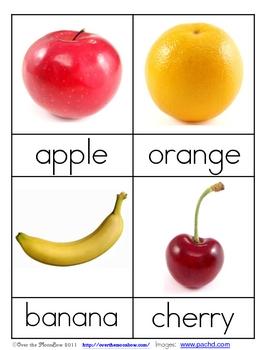 Fruit Nomenclature 3 - Part Vocabulary Cards