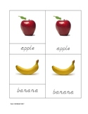 Fruit Nomenclature Cards in D'Nealian