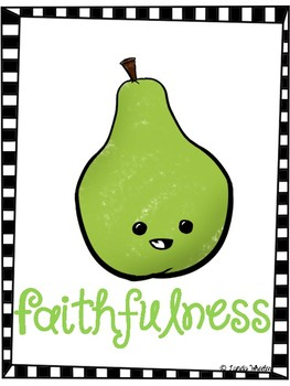 Fruit Of The Spirit Posters - Bulletin Board Set