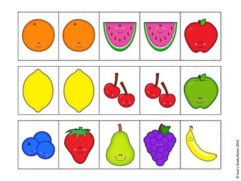 Fruit Pattern Cards