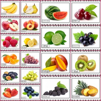 Fruits Photo Poster Display Pack