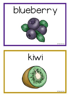 Fruit Picture Cards (Making Fruit Salad)