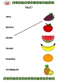 Fruit Picture-Word Match - 2 Pages