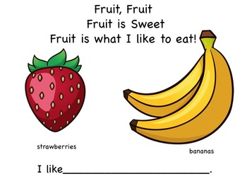 Fruit Early Reader Literacy Circle Rhyme