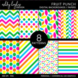 12x12 Digital Paper Set: Fruit Punch {A Hughes Design}