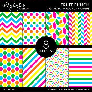 12x12 Digital Paper Set: Fruit Punch {A Hughes Design}