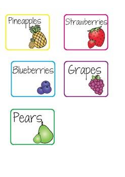 Fruit Reading Groups - Labels