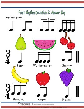 Fruit Rhythm Dictation