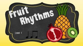 Fruit Rhythms Level 1 (First/Second Grade)