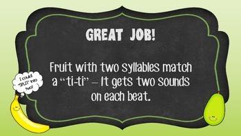 Fruit Rhythms Level 4 (Fourth/Fifth Grade)