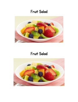 Fruit Salad Emergent Reader