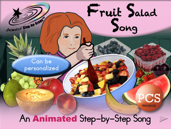 Fruit Salad Song - Animated Step-by-Step Song - PCS