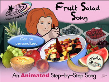 Fruit Salad Song - Animated Step-by-Step Song - Regular