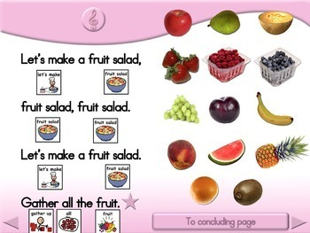 Fruit Salad Song - Animated Step-by-Step Song - SymbolStix