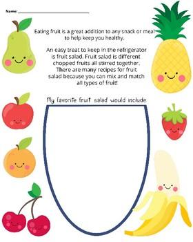 Fruit Salad Worksheet