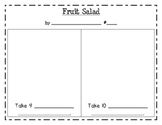 Fruit Salad counting 9 and 10 (for One-to-One Counting Practice Flipchart)