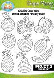 Fruit Shaped Mazes Clipart {Zip-A-Dee-Doo-Dah Designs}